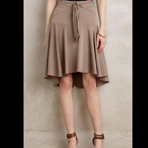 Anthro HD in Paris Tie Front High Low Skirt